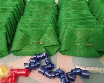 30 Dirty Diaper Game Felt Diapers Baby Shower Game - John Deere Green