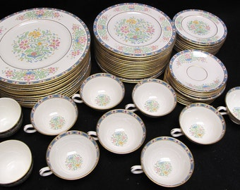62 Piece Set of Lenox Mystic Gold Mark Y1 Dinnerware