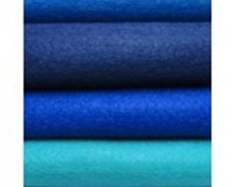 Pack of 5 Felt sheets- Sea colour range