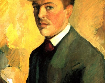 August Macke: Self Portrait. Fine Art Print/Poster. (002177)