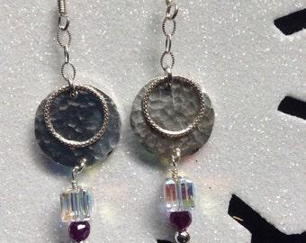 Sterling, Crystal and Gemstone Earrings