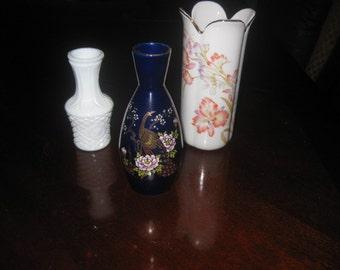 Three Small Vintage Vases.