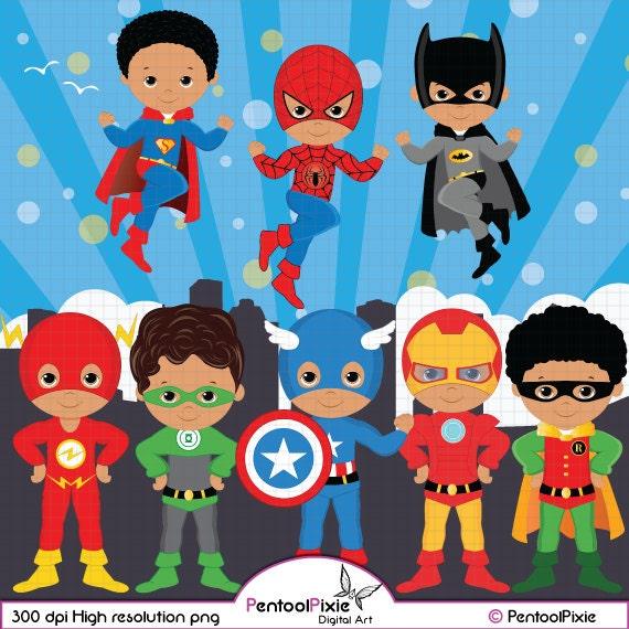 African American Superhero Clipart Super Hero Clipart