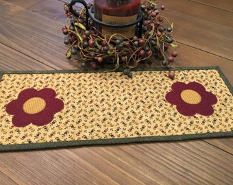 Quilted Table Topper / Toilet Topper / Country Decor / Handmade / Item #1405