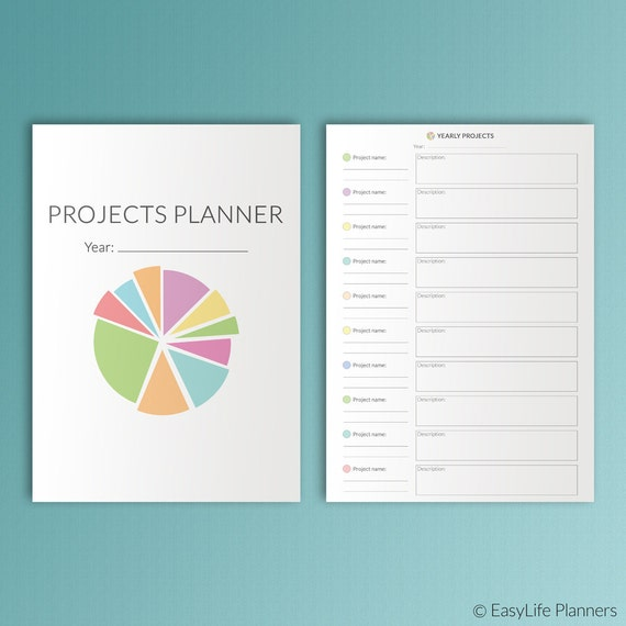 Project Planner Printable A4 Binder Inserts Refill Craft