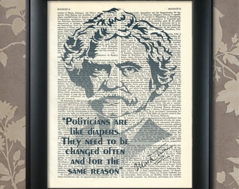 Mark Twain Quote, Mark Twain Print, Mark Twain Poster, Mark Twain Art, Mark Twain Wall Art, Mark Twain Decor, American Writer, Lecturer