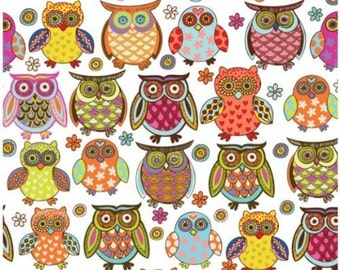 "Colorful Owl Tissue Paper # 257  ..10 large sheets ... 20"" x 30"""