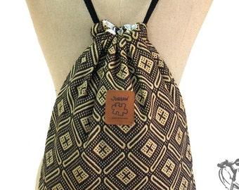 Ethnic Backpack drawstring bag Cotton Backpack Yoga bag Laptop bag Handmade bag