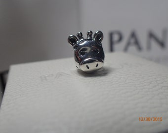 Authentic Pandora Gorgeous Giraffe 791747 / New / Includes Pandora Pop up Box , Tissue and Sticker