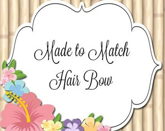 Made to Match Hair Bow