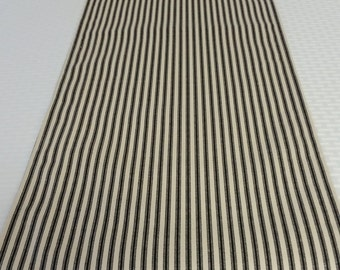 Table Runner, Black stripe table runner, Christmas table runner, black ticking table runner, stripe table runner,