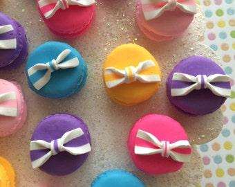 Fancy macarons mix - clay fake macaron's - 5 pcs - decorative macarons - cabochons and embellishments