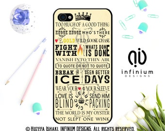 Shakespeare Quotes, Case For iPhone 6S, iPhone 7, iPhone 7 Plus, iPod Touch 6, iPhone 6 Plus, iPhone 5S & iPhone 5C