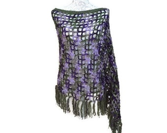 Perfect Purple and Olive Poncho
