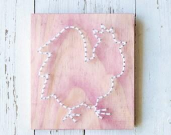 Rooster String Art, Kitchen Decor, Kitchen Art, Wood Wall Art, Country Decor, Farm Decor