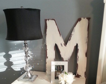 "24"" Large wooden shabby chic vintage distressed Letter"