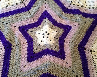 Star Shaped Pram/Lap Blanket