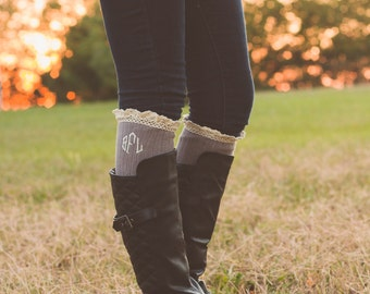 Monogrammed Boot Socks | Monogrammed Boot Cuffs | Ruffle Socks | Stocking Stuffers | Gift for Her | Gift for Teen | Gifts under 25