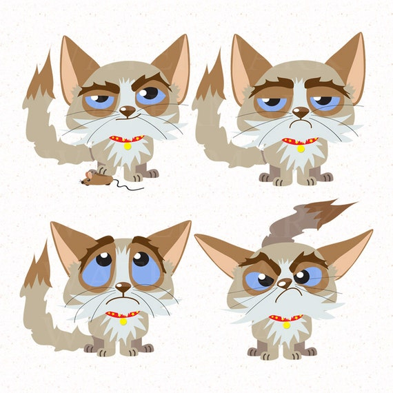 clipart grumpy cat - photo #36