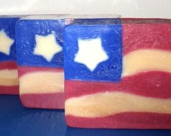 Freedom Soap, Natural Soap, Vegan Soap, Artisan Soap, Body Soap Bar, Cold Process Soap, USA Soap, Alaska Handmade, Moisturizing Soap,