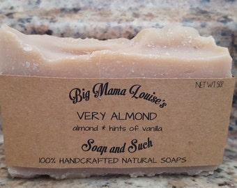 Almond Soap, Cold Process Soap, Handmade Soap, Organic Soap, All Natural Soap, Vegan Soap