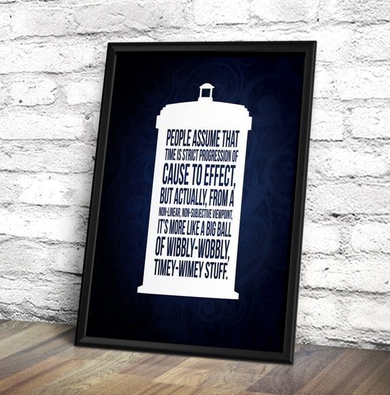Doctor Who Poster - Doctor Who Inspired Tardis 'Timey-Wimey' Poster - Geek Poster
