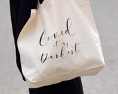 Loved at my darkest // canvas tote {natural} // for HIS glory