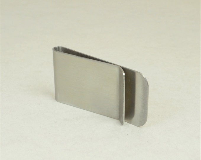 Monogram Stainless Steel Money Clip, Money Clip, Customized Money Clip, Groomsman, Father's Day, Graduation Gift for Male, Gift for Him