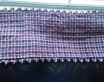 Plaid hand quilted table topper