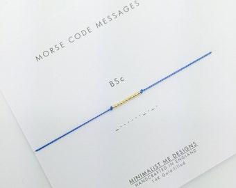 Morse Code graduation degree title - perfect graduation gift