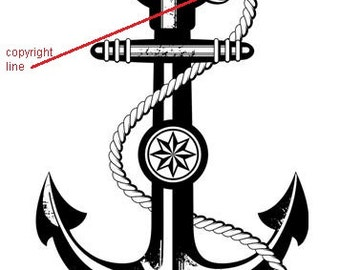 Anchor - temporary tattoo