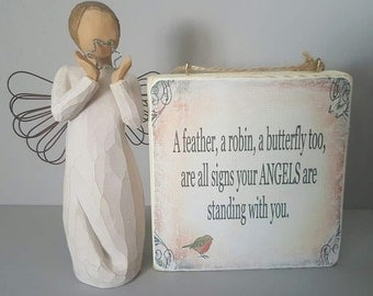 wall hanging plaques, angels are near.