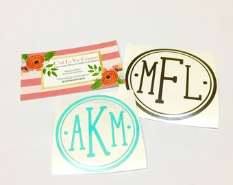 Full Circle Monogram Decal