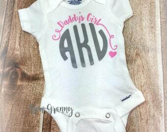 Newborn Monogram Onesie, Newborn Onesie, Take Home Outfit, Coming Home Outfit, Baby Shower Gift, New Baby Gift, Baby Girl Onesie