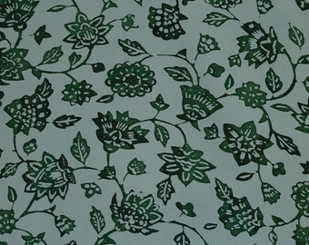 Vintage Japanese Silk Kimono Fabric Karabana Flower