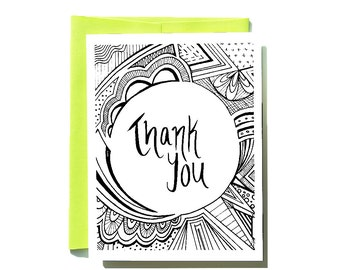 Thank You Doodle Card