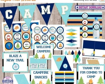 45% OFF Camping party package, instant download, Camping Birthday Party, great outdoors, boy scouts, fire, s'mores, camping birthday, birthd