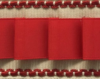 Pleated Ribbon Trim Add-on for Drapery Panels, Many Colors