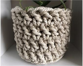 Handmade Crochet Basket - Plant Holder