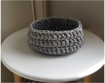 Handmade Crochet Basket - Storage Basket