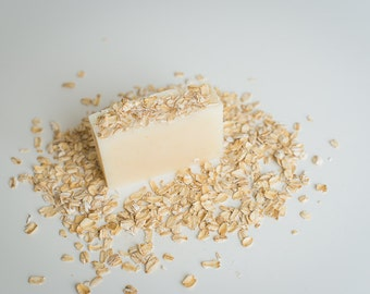 Oatmeal Handcrafted Soap  - Unscented Soap - Vegan Skincare - Fragrance Free