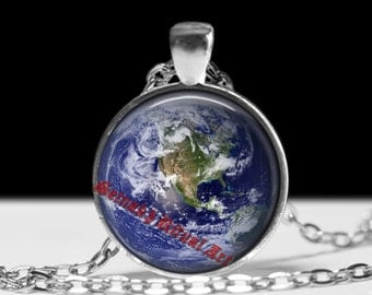 Earth pendant Astrology jewelry Planet necklace Magic jewellery #433.3
