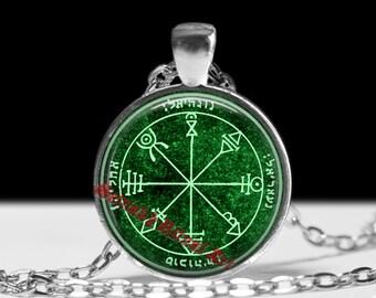 First pentacle of Venus pendant, friendship talisman, Goetia Solomon Seals, ritual necklace, occult jewelry, ceremonial magick, lamen #103