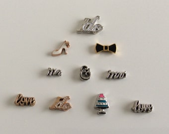 Your Choice - Wedding Floating Charms - Charms For Floating Charm Locket