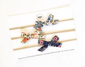Floral Bows - Rifle Paper Co.  - Bows - Hair Bows - Hair Clips -  Nylon Headband - Hair Accessories - Baby Accessories