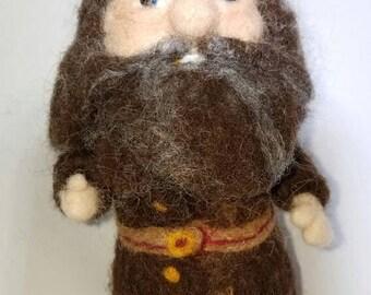 OOAK Hagrid - Nettle Felted Wool Art Doll