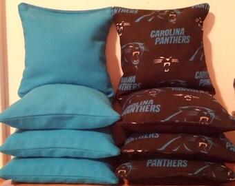 Carolina PANTHERS Cornhole Bags regulation size and weight