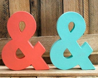Painted Ampersand. Wedding Decor. Reception. Wall Art. Hand Painted.