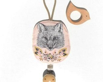 pacifier pink fox