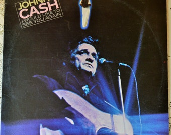 Vintage Johnny Cash VINYL RECORD 'I would Like to see you again' Columbia Records 1978; 12""